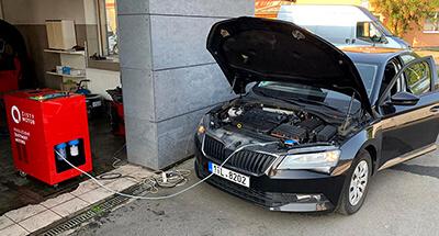 dekarbonizace auta Škoda Superb III
